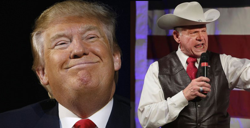 "Trump Assures Voters America Is Too Old For Roy Moore To ""Mess Around With"""