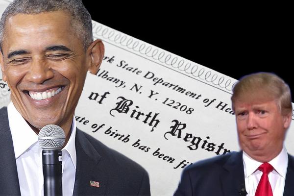 birth certificate trump obama